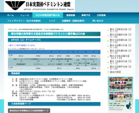 全日本実業団バドミントン選手権大会 決勝進出チームが決定
