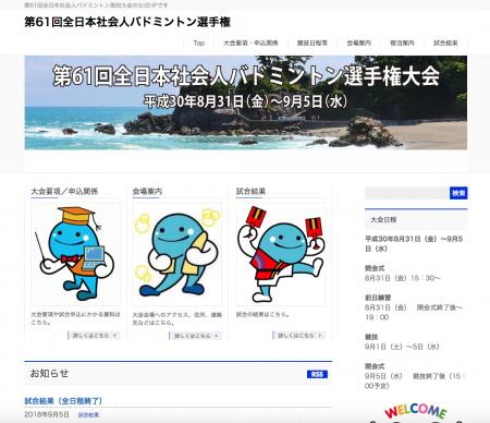 全日本社会人バドミントン選手権大会、各種目の優勝者決定!