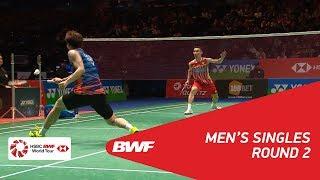 【動画】李東根 VS リー・チョンウェイ 全英オープン2018 ベスト16