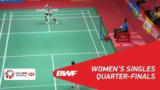 【動画】奥原希望 VS ラッチャノク・インタノン インドネシアマスターズ2018 準々決勝