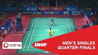 【動画】リー・チョンウェイ VS カンタフォン・ワンチャロン インドネシアオープン2018 準々決勝