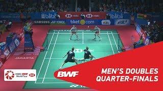 【動画】マルクス・フェルナルディ・ギデオン・ケビン・サンジャヤ・スカムルジョ VS マッズ・コンラッド・ピーターセン・マッズ・ピーラー・コールディング インドネシアオープン2018 準々決勝