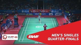 【動画】トミー・スギアルト VS 桃田賢斗 インドネシアオープン2018 準々決勝