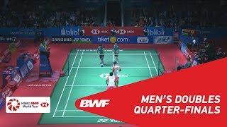 【動画】リャオ・ミンチュン・蘇敬恒 VS ベリー・アングリアワン・ハルディアント・ハルディアント インドネシアオープン2018 準々決勝