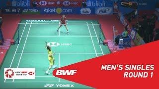 【動画】伍家朗 VS リー・チョンウェイ インドネシアオープン2018 ベスト32