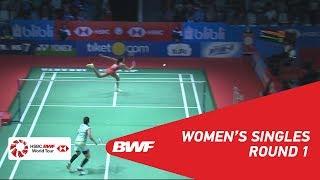 【動画】P.V.シンドゥ VS ポルンパウィ・チョチュウォン インドネシアオープン2018 ベスト32
