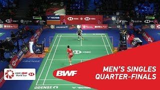 【動画】周天成 VS ソン・ワンホ デンマークオープン2018 準々決勝
