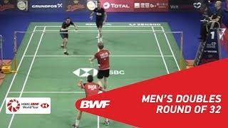 【動画】マシアス・ボー・カルステン・モゲンセン VS イェレ・マース・ロビン・タベリング デンマークオープン2018 ベスト32
