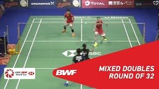 【動画】リッキー・カランダスワルディ・デビー・スサント VS 張楠 デンマークオープン2018 ベスト32
