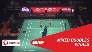 【動画】郑思维 VS 王懿律 福州中国オープン2018 決勝