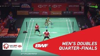 【動画】マルクス・フェルナルディ・ギデオン・ケビン・サンジャヤ・スカムルジョ VS キム・アストルプ・アンダース・スカールプ・ラスムセン 福州中国オープン2018 準々決勝