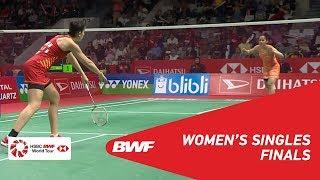 【動画】サイナ・ネワール VS キャロリーナ・マリン インドネシアマスターズ2019 決勝