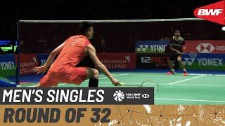 【動画】スリカンス・K VS 諶龍 全英オープン2020 ベスト32