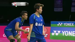 【動画】タトウィ・アーマド・リリヤナ・ナットシール VS 李晉熙・チャウ・ホイワー BWF世界選手権2017 準決勝
