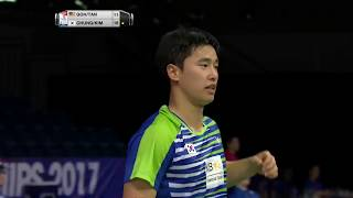 【動画】チュン・イソク・キム・ドギョン VS ゴー・V シェム・タン・ウィーキョン BWF世界選手権2017 ベスト32