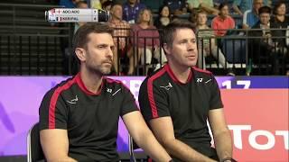 【動画】クリス・アドコック・ガブリエル・アドコック VS バスティアン・カーサウディ・リー・パレルモ BWF世界選手権2017 ベスト32