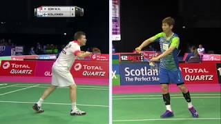 【動画】ソン・ワンホ VS カレ・コルジョネン BWF世界選手権2017 ベスト64