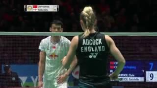 【動画】鲁恺 VS クリス・アドコック・ガブリエル・アドコック 全英オープン2017 準決勝