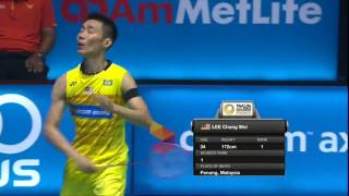 【動画】リー・チョンウェイ VS 黃永棋 バドミントンマレーシアオープン2017 準決勝