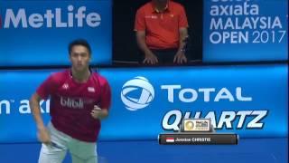 【動画】林丹 VS ジョナタン・クリスティー バドミントンマレーシアオープン2017 準々決勝